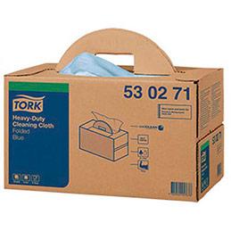 Chiffons bleus non tissés Tork Premium - 42 x 38 cm - pour essuyage exigeant - boîte de 200 (photo)