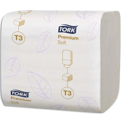 Papier toilette Tork Premium doux - 2 plis - 11 x 19 cm - colis de 30 paquets de 252 (7560 feuilles) (photo)