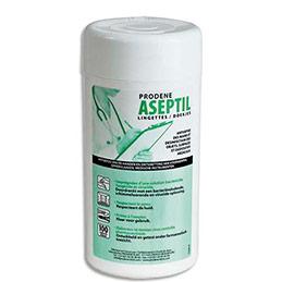 Lingettes d'hygiène Aseptil pour mains et objets - bactéricide - boîte de 100 (photo)