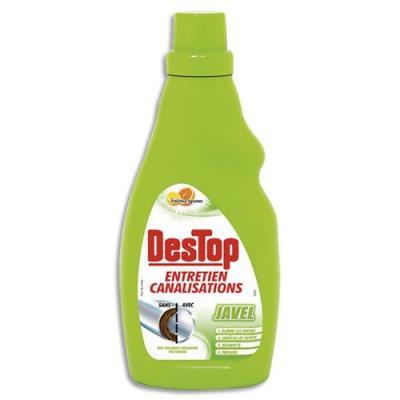 eau de javel destop pour entretien des canalisations parfum citron pamplemousse 750 ml. Black Bedroom Furniture Sets. Home Design Ideas