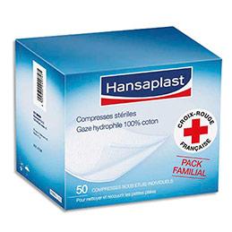 Compresses de gaze Hansaplast  - 20 x 20 cm - boîte de 50 (photo)