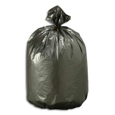 Sacs poubelle noirs qualité NF - 30 litres - 21 microns - boîte de 500 (photo)