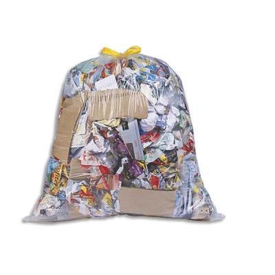 Sacs poubelle à liens coulissants transparents - 100 litres - 25 microns - boîte de 100 (photo)