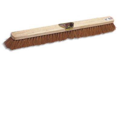 Balai coco d'intérieur - monture en bois - douille en métal - Largeur 100 cm (photo)