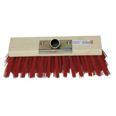 Balai cantonnier d'extérieur - monture bois - fibre PVC - douille en métal - largeur 30 cm (photo)