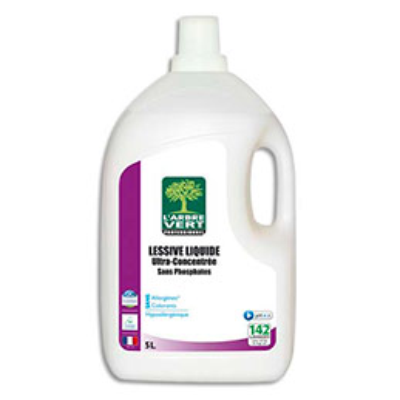 Lessive liquide ultra-concentrée L'Arbre Vert - origine végétale Ecolabel - bidon de 5L (photo)