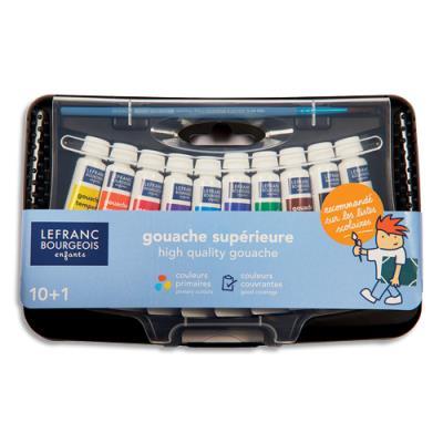 Boîte de 10 tubes de gouache 10ml - coloris assortis