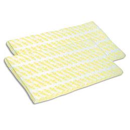 Gazes jaune non tissées Spontex - très épaisses - imprégnées pour attirer et retenir la poussière - paquet de 50 (photo)