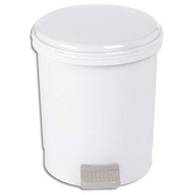 Poubelle à pédale pour sanitaire économique - capacité 3 litres (photo)