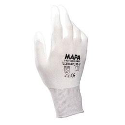 Gants de dexterité Ultrane Mapa 550 pour industrie propre - enduction polyuréthane - taille 9 - lot de 10 paires (photo)