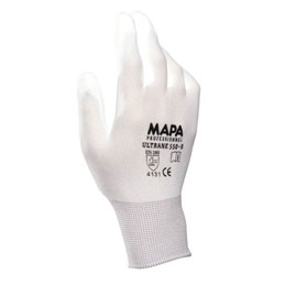 Gants de dexterité Ultrane Mapa 550 pour industrie propre - enduction polyuréthane - taille 7 - lot de 10 paires (photo)
