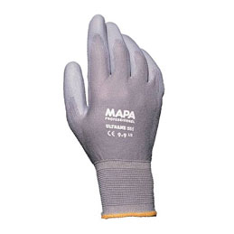 Gants de dexterité Ultrane Mapa 551 pour industrie salissante - enduction polyuréthane - taille 9 - lot de 10 paires (photo)
