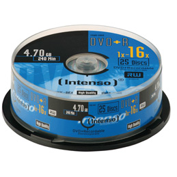 Spindle de 25 DVD+R 4.7Go Intenso 16x (photo)