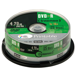 DVD-R 4.7Go Intenso - 16x printable - boitier de 25 (photo)