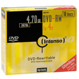 DVD-RW 4.7Go Intenso - 4x - paquet de 10 (photo)