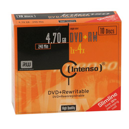DVD+RW 4.7Go Intenso - 4x - paquet de 10 (photo)