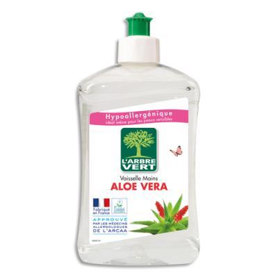 Liquide vaisselle mains L'Arbre Vert parfum aloe vera Ecolabel - flacon de 500 ml (photo)