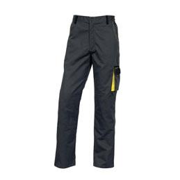 Pantalon de travail D-Match - polyester et coton - gris / jaune - taille L 42-44