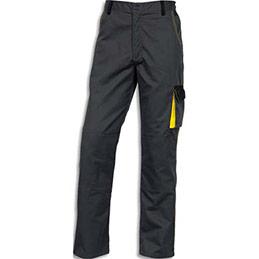 Pantalon de travail D-Mach - polyester et coton - gris / jaune - taille XL 46-48
