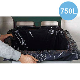 Housse pour conteneur - 750 litres - 32 microns - boîte de 50 (photo)
