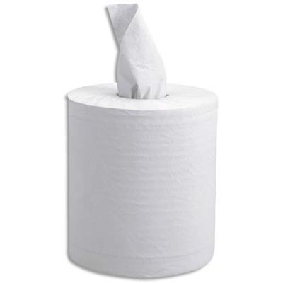 Bobine d'essuyage blanche Maxi prédécoupée - 2 plis - 450 feuilles 30 x 19,5 cm - lot de 6 (photo)