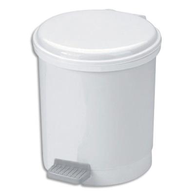 Poubelle à pédale éco pour sanitaire en plastique - 6 L (photo)