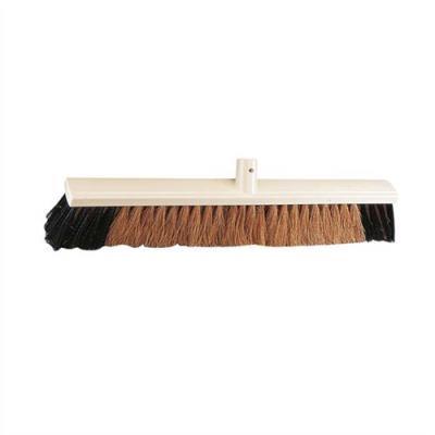Balai coco intérieur ou extérieur - monture en PVC - douille en métal - Largeur 60 cm (photo)