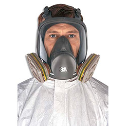 Masque panoramique respiratoire 3M 6800S - conforme EN136 Classe 1