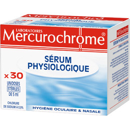 Doses de serum physiologique Mercurochrome - 5ml - boîte de 30 (photo)