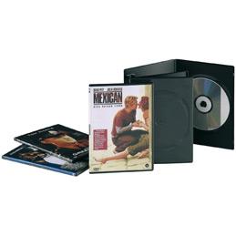 Boitiers vides slim noir pour 1 DVD Fellowes - lot de 10 (photo)