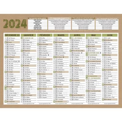 Calendrier 2020 bouchut natura papier recyclé 6 mois par face 13 x 17 cm