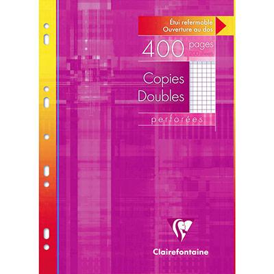 Copies doubles A4 400 pages - 5x5 - 210 x 297 mm blanc 90g/m² - paquet de 200 (photo)