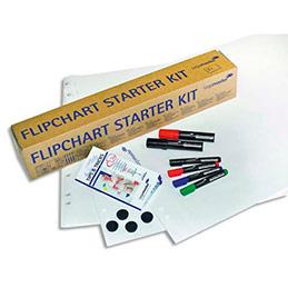 Kit pour chevalet avec 3 blocs papier 6 marqueurs 4 aimants (photo)