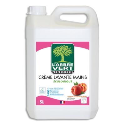 Crème lavante pour les mains l'Arbre Vert - spéciale odeurs tenaces - parfum pêche - 5L (photo)