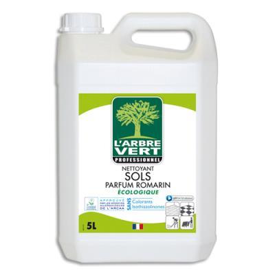 Nettoyant sols L'Arbre Vert - sans colorant ni allergènes - parfumé au romarin - bidon 5L (photo)