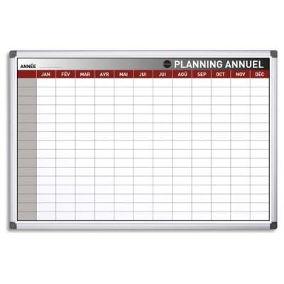 Planning Bi-Office annuel perpétuel magnétique - 90 x 60 cm (photo)