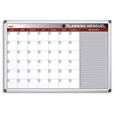 Planning Bi-Office mensuel perpétuel magnétique - 90 x 60 cm (photo)