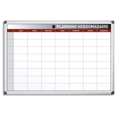Planning Bi-Office hebdomadaire perpétuel magnétique - 90 x 60 cm (photo)