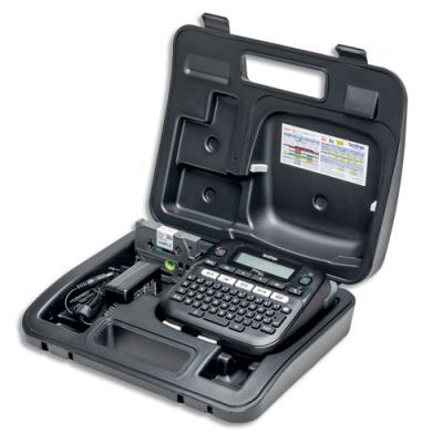 Etiqueteuse de bureau Brother PT-D210VP avec valise - utilise des rubans Tze de 3,5 à 12 mm