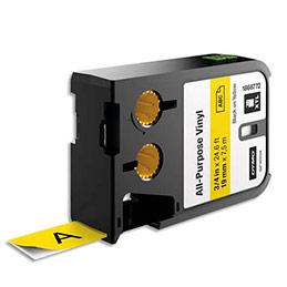 Ruban Dymo XTL 1868772 vinyle multi-usages - 19 mm x 7,5 m - noir sur jaune (photo)
