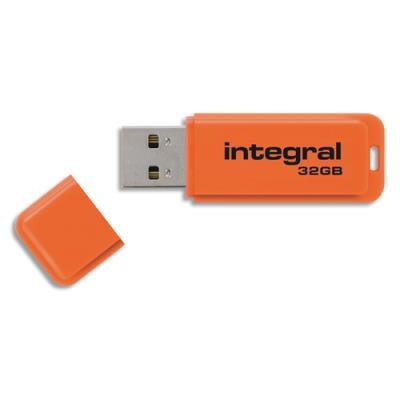 Clé USB 3.0 Néon - 32 Go - orange (photo)