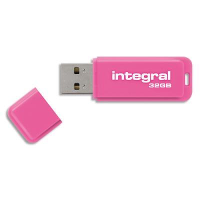Clé USB 3.0 Néon - 32 Go - rose (photo)