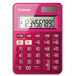 Calculatrice de poche Canon LS-100K - rose (photo)
