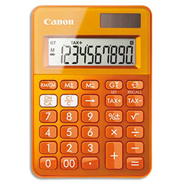 Calculatrice de poche Canon LS-100K - orange (photo)