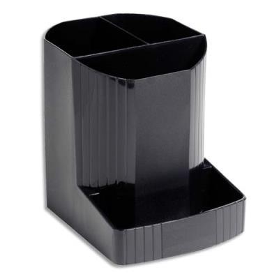 Pot à crayons Exacompta Eco Black - en PP recyclé