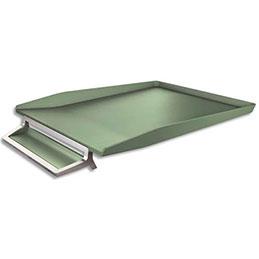 Corbeille à courrier avec plumier Leitz Style - en ABS et zinc - vert (photo)