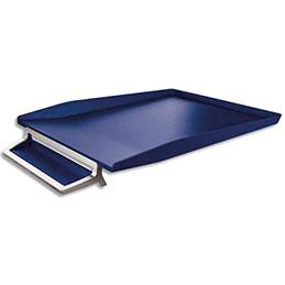 Corbeille à courrier avec plumier Leitz Style - en ABS et zinc - bleu (photo)