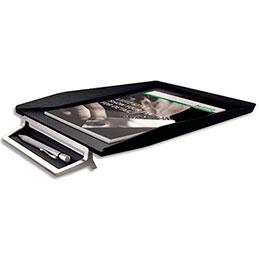 Corbeille à courrier avec plumier Leitz Style - en ABS et zinc - noir (photo)