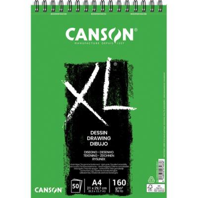 Bloc de 50 feuilles de papier dessin Canson XL Dessin - papier blanc pour gommages répétés  -160g - A4 (photo)