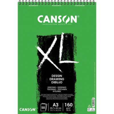 Bloc de 50 feuilles de papier dessin Canson XL Dessin - papier blanc pour gommages répétés  -160g - A3 (photo)
